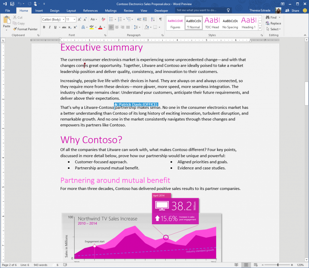 Office 2016 Preview, скрин 1