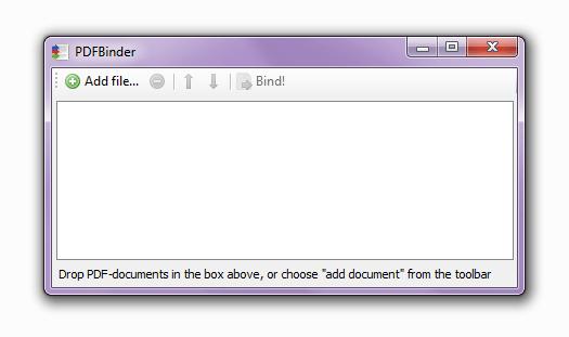 окно программы PDFBinder